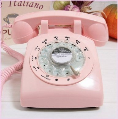 Glodeals 1960's Style Pink Retro Old Fashioned Rotary Dial Telephone (1960 Old Rotary Dial Telephones compare prices)