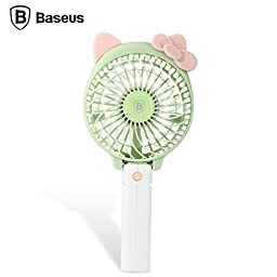Baseus Alice Mini USB Fan with 2000mah Rechargeable 18650 Battery (GREEN)