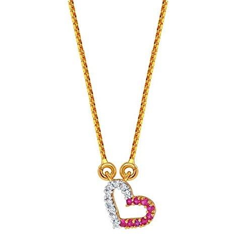 Sangini Sangini 18K Yellow Gold Diamond Chain Necklace (Multicolor)