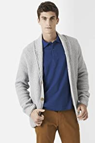 Wool Blend Shawl Collar Cardigan Sweater