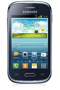 Samsung Galaxy Young S6310N Smartphone (8,1 cm (3,2 Zoll) Touchscreen, Cortex A5, 1GHz, 768MB RAM, 4GB interner Speicher, 3,2 Megapixel Kamera, Android 4.1) tiefblau