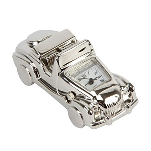 Miniature Silver Plated Convertible Sports Car Clock