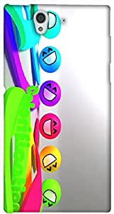 Stunning 3D multicolor printed protective REBEL mobile back cover for Sony Xperia Z L36H - D.No-DEZ-2435-s36