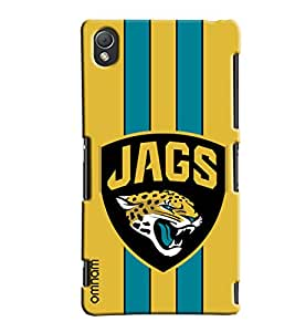 Omnam Jags With Tiger Printed With Yellow Background Designer Back Cover Case For Sony Xperia Z3