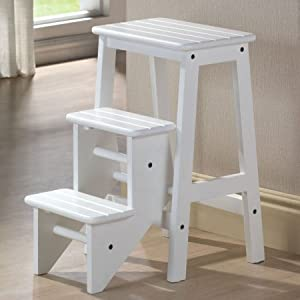 folding step stool white 24 kitchen