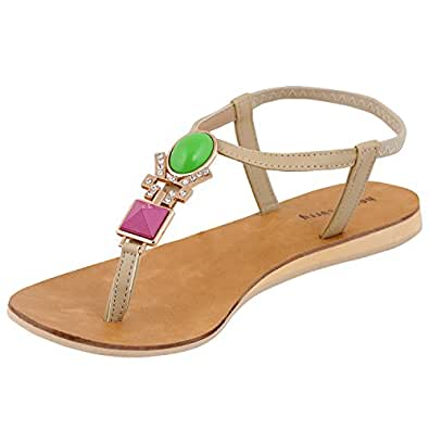 Perfect Home Shoes Womens Sandals India Women Leather White Thong Sandal Size