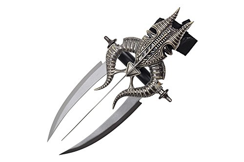 "Swordmaster - 15"" Fantasy Knife Wrist Mounted Triple Blade Dagger"