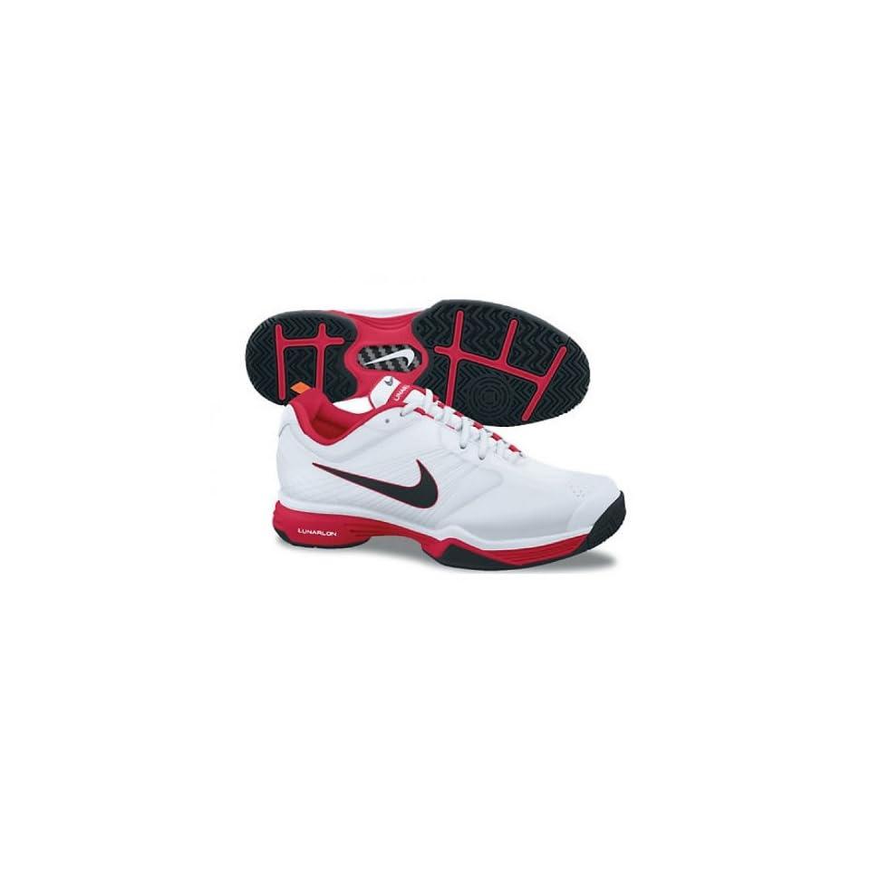 78fb136742c1 Womens Nike Lunar Speed 3 Tennis Shoe by Maria Sharapova White   Black    Scarlet Fire 429999 110 Sports   Outdoors