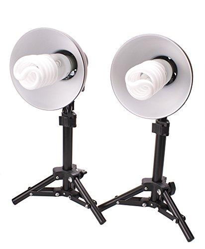 StudioPRO 2 Light Photography Table Top Photo Studio Lighting Kit