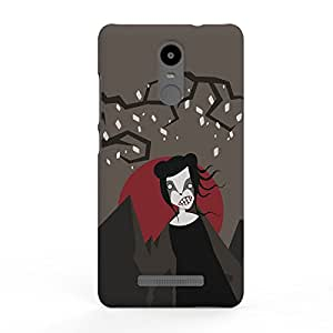 Koveru Designer Printed Protective Snap-On Durable Plastic Back Shell Case Cover for Xiaomi Redmi Note 3 - Witch in the Dark
