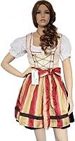 3 pieces Mini Dirndl with apron & blouse Bavarian Dress for Oktoberfest & Lederhosen Cream
