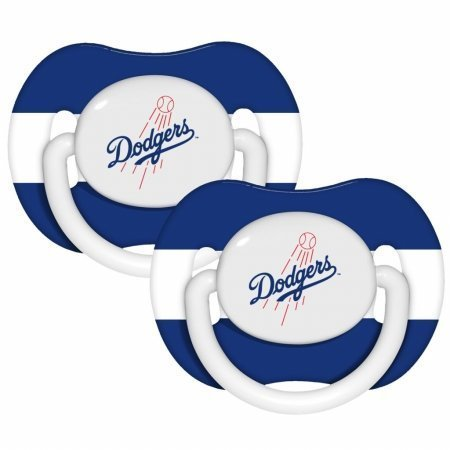 Baby-Fanatic-143336-Los-Angeles-Dodgers-Pacifiers-2-pack-by-Baby-Fanatic