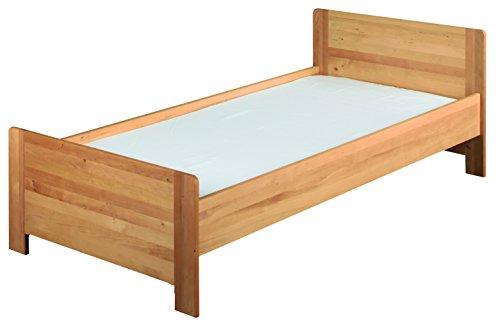 Niklas lit 90x200 cm le lit de l'enfant pour enfants. Metallfree, aulne massif