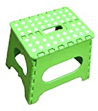 Jeronic 11-Inch Plastic Folding Step Stool, Green