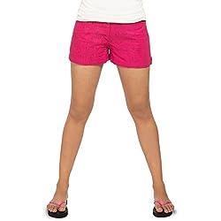 idiotheory Pink Chaiwalla Women's Shorts (ITWCCWLLSPK02_L)