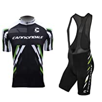 Cgecko 2013 Black Cannondale Short Sleeve Bicycle Cycling Jersey & Bib Shorts Set Coolmax Padding for Summer jersey