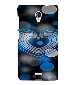 PrintVisa Modern Art Heart Design 3D Hard Polycarbonate Designer Back Case Cover for Micromax Unite 2 A106