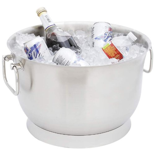 Standout Dispensers Exclusive Drinkware 24Qt Ss Double Wall Party Tub Incomparable