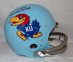 Gale Sayers Autographed F S Kansas Jayhawks *Blk TK Helmet- JSA Authenticated by Hollywood+Collectibles