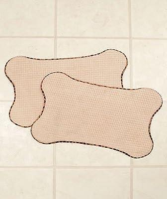 Bone Shaped Pet Bowl Quick-Dry Mats - Set of 2