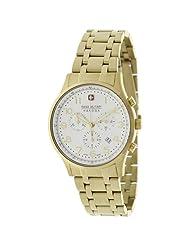 Swiss Military Hanowa Men's Patriot 06-5187-02-001 Gold Stainless-Steel Quartz Watch with White Dial