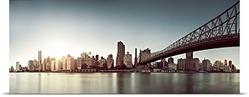 Poster Print entitled Upper East Side, Queensboro Bridge, Manhattan skyline, New York City (Upper East Side Poster compare prices)