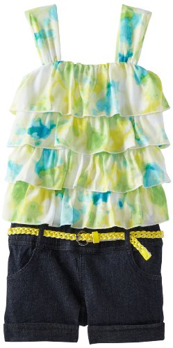 Image of My Michelle FRZ5149NRES Girls 7-16 Ruffle Romper