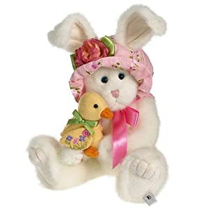 "Boyds Bears Hattie Springfield and Lil' Quack - 10"" Easter Plush"