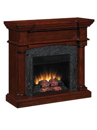 Martha'S Vineyard Electric Fireplace In Mahogany Finish
