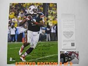 Autographed Newton Photo - AUBURN 16x20 w HEISMAN 2 2 - Upper Deck Certified -... by Sports+Memorabilia