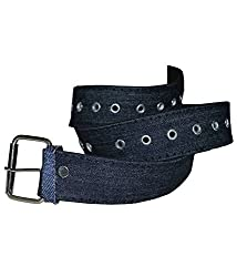 Women blue synthetic belt