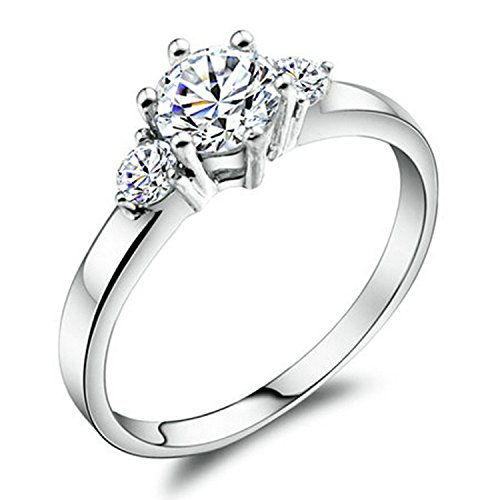 Yoursfs 0.5CT Cubic Zirconia CZ Engagement Rings
