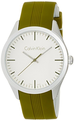 Calvin Klein Unisex Analogue Watch with white Dial Analogue