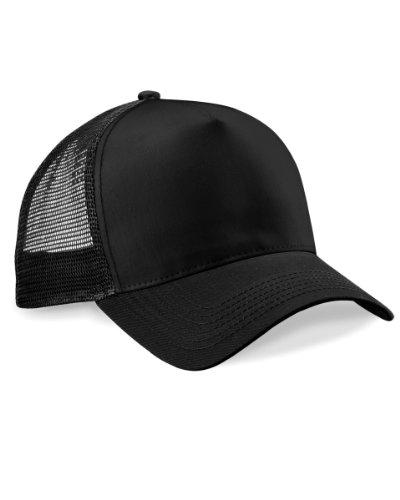 Beechfield - Cappellino Bande a Rete - Uomo (Taglia unica) (Nero)