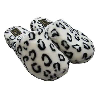 THE CHILDREN/'S PLACE Girls Faux Fur Animal Leopard Scuff Print Slippers PINK NWT