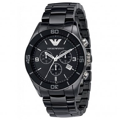 Emporio Armani Black Ceramic Chronograph Mens Watch AR1421