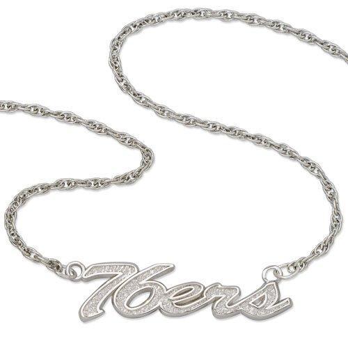 Logoart Philadelphia 76Ers Team Name Script Necklace