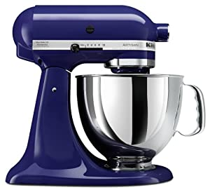 KitchenAid KSM150PSBU Artisan Series 5-Quart Mixer, Cobalt Blue