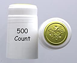 White PVC Shrink Capsules-500 Count