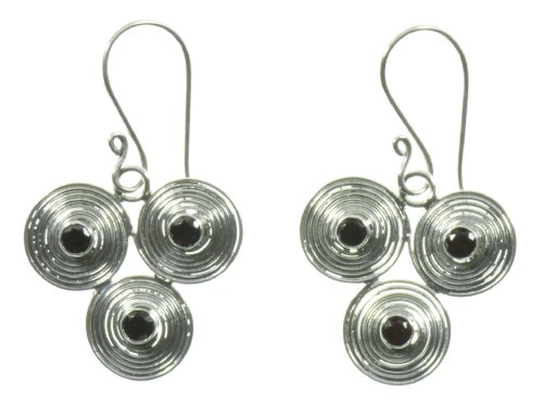 Silver Triple Close Spiral Earring Jewelry of Bali