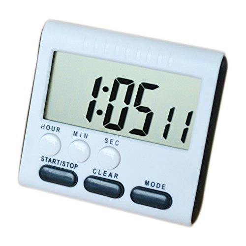 bluelans® magnétique alarme minuterie de cuisine numérique avec minuterie horloge 24heures Support, grand écran noir