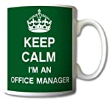 Keep Calm I'm An Office Manager Mug Cup Gift Retro