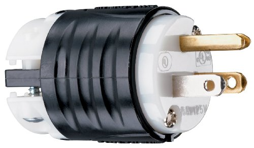 Pass & Seymour PS5266XCCV8 Extra Hard Use Straight Blade Plug Two Pole Three Wire 15-Amp 125-volt, Heavy Duty Construction