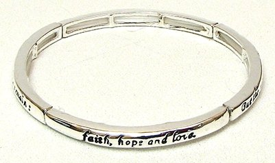 Stackable Stretch Bangle 1 Cor. 13:13 Stackable