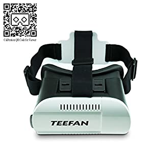 Teefan 174 plastic google cardboard vr headset super 3d virtual reality