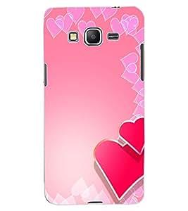 ColourCraft Love Hearts Design Back Case Cover for SAMSUNG GALAXY GRAND PRIME G530H