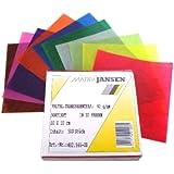Faltblätter, aus Transparentpapier, 10x10 cm, 500 Stück, in 10 schönen Farben...