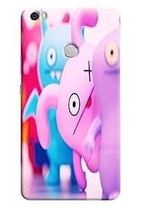 Omnam Little Pigy Cartoon Printed Designer Back Cover Case For Xiaomi Mi Max