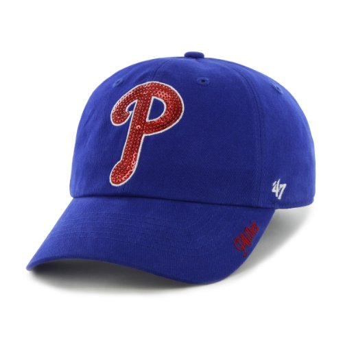 MLB Philadelphia Phillies Women's Sparkle Team Color Cap, One-Size, Royal at Amazon.com