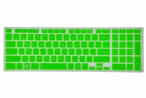 Colorful Semitransparent Silicone Keyboard Cover Skin Protector For Toshiba Satellite C850 C855 C855D C870 C875 C875D (Green)